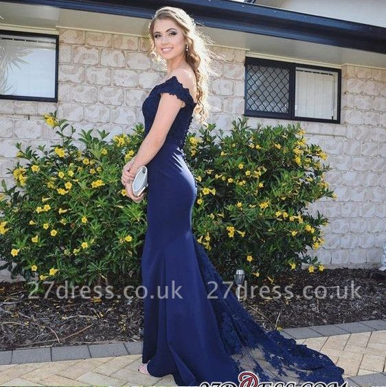 Navy Lace Prom Dress UK | Mermaid Long Evening Gowns