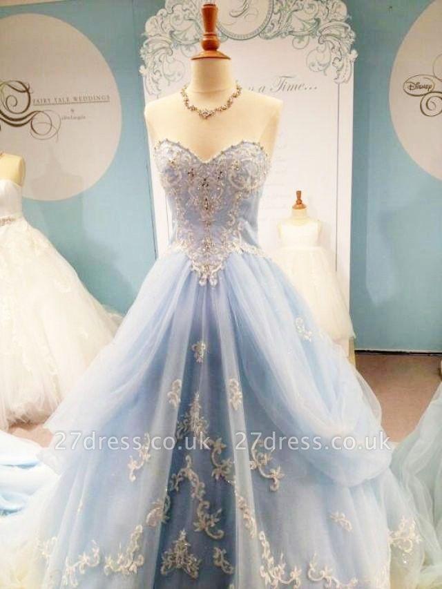 Timeless Sweetheart Appliques A-Line Prom Dress UK Floor-length Sweet 16 Dress UK