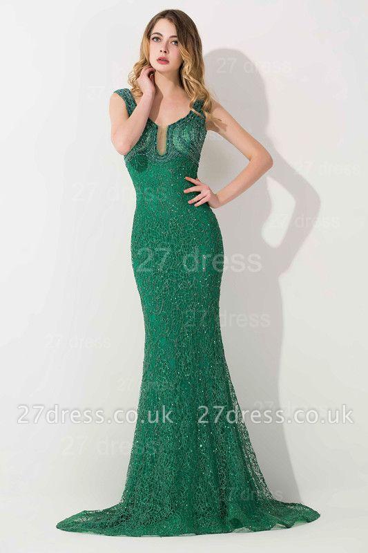 Luxury Green Long Evening Dress UK Mermaid On Sale