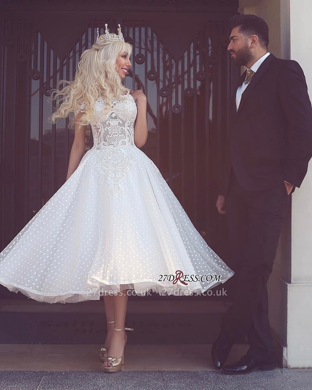 Ball-Gown Off-the-Shoulder White Wedding Dress