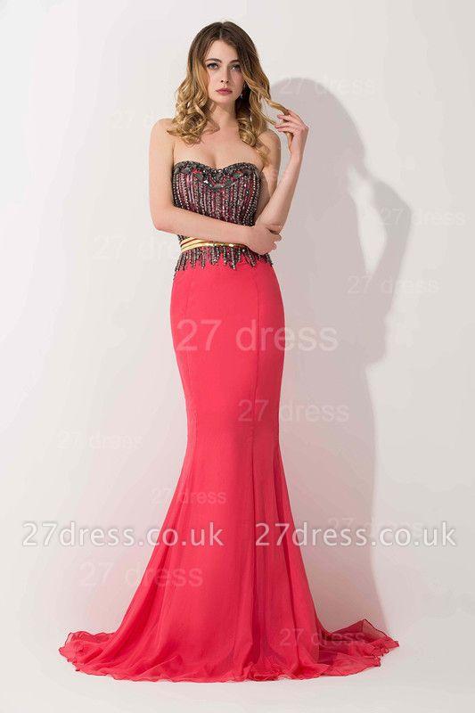 Stunning Sweetheart Mermaid Prom Dress UK With Beadings