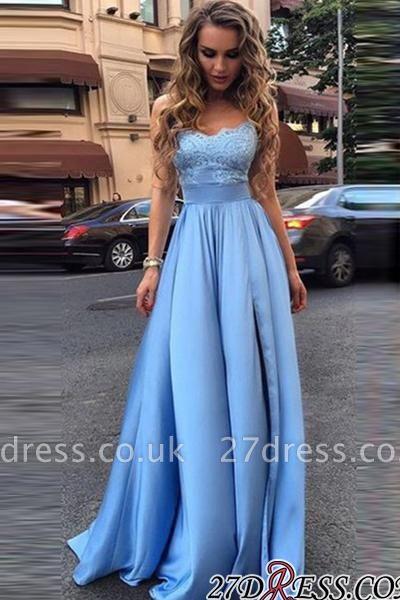 Lace Sleeveless Gorgeous Strapless A-Line Prom Dress UKes UK