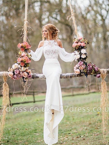 Gorgeous Long Sleeve Designer Wedding Dress Sexy Mermaid Long Lace BA3229