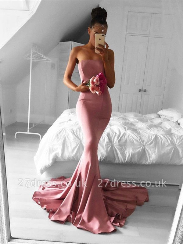 Sexy Strapless Mermaid Formal Dress UK Long Prom Dress UK for Party