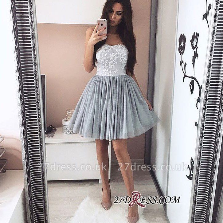 A-Line Short Appliques Sweetheart Appliques Simple Homecoming Dress UK