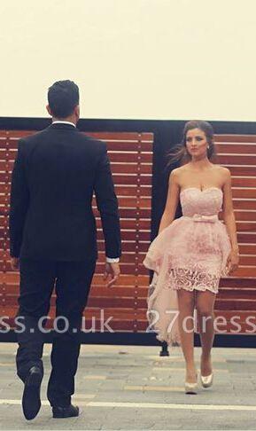 Elegant Sweetheart Sleeveless Detachable Cockatail Dress UK Lace Tulle Sexy Homecoming Dress UKes UK