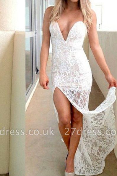 Stunning Sweetheart Mermaid Prom Dress UKes UK lace Split