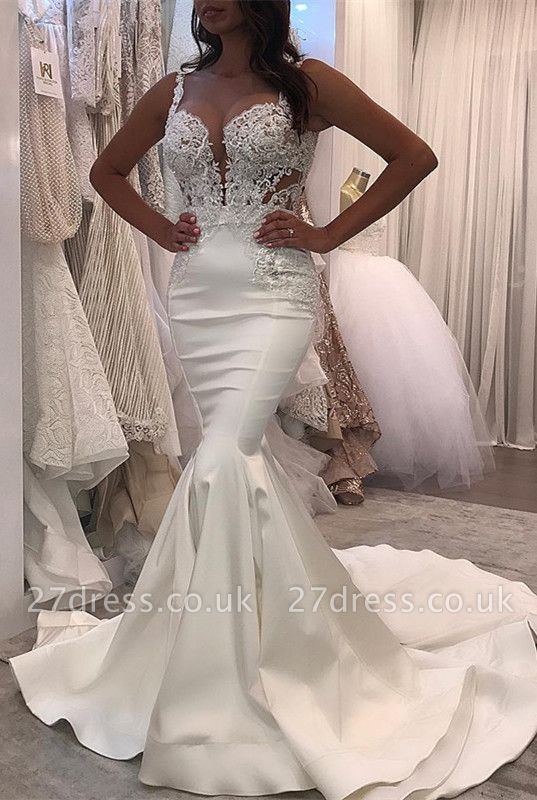 Lace Wedding Dress | Sexy Mermaid Long Bridal Gowns