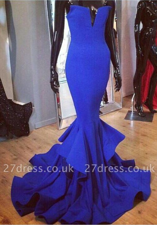 Mermaid Womens Royal Blue Evening Dress UK Sexy Luxury Online