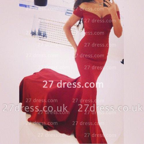 Off the Shoulder Red Prom Dress UKes UK