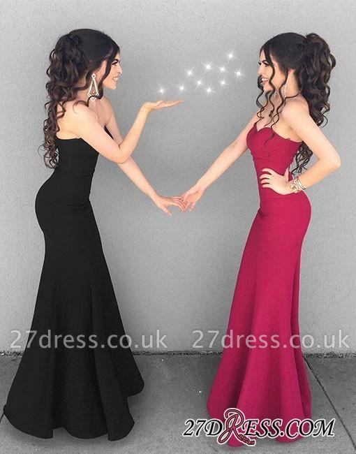 Mermaid Simple Black Sweetheart-neck Stylish Long Evening Dress UKes UK BA6852