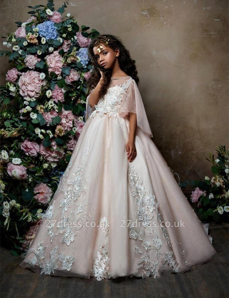 Lovely Princess Flower Girl Dress   2019 Zipper Girls Pageant Dress