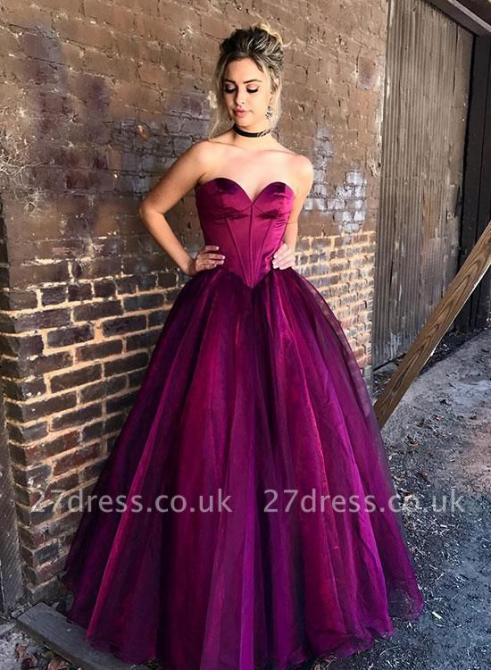Luxury Sweetheart Long Princess Evening Dress UK Tulle Long Party Gowns BA9865
