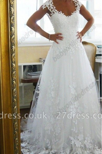 Lace  CustomWedding Dresses UK Off the Shoulder Freeshipping Low Price