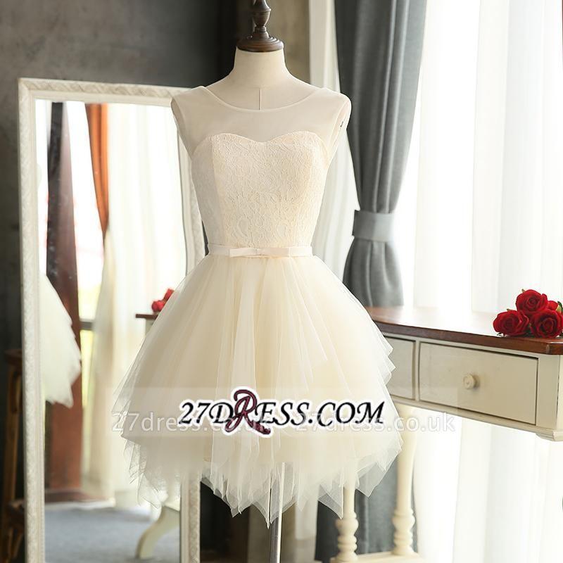 Sexy Mini A-Line Tulle Sleeveless Homecoming Dress UKes UK