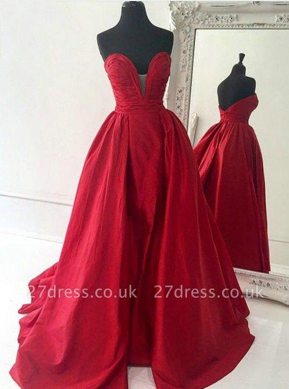 Sexy Sweetheart Prom Dress UKes UK Long A-Line Zipper Back BA7350