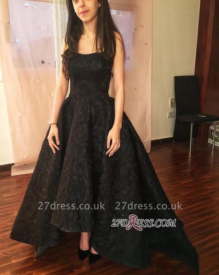 Black lace prom Dress UK, evening party Dress UK on sale