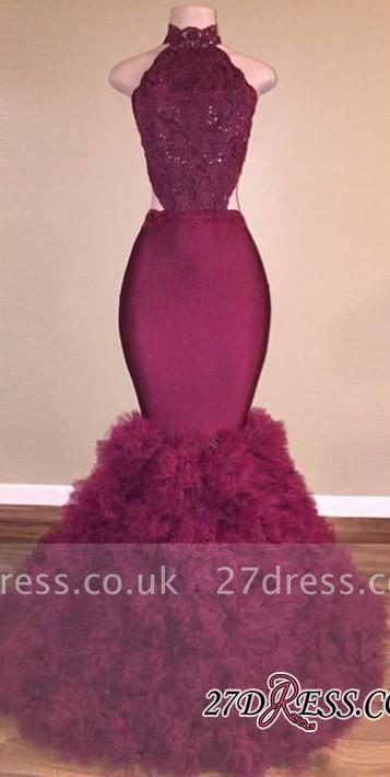 Mermaid Lace Backless Gorgeous Prom Dress UK