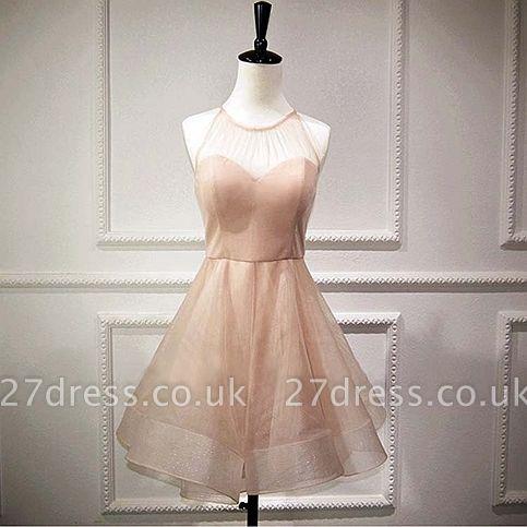 Homecoming Dress UKes UK Sleeveless Mini Elegant A-Line Chiffon Halter Cocktail Dress UKes UK