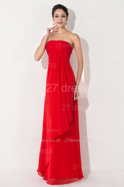 Newest Sweetheart Sleeveless A-line Evening Dress UK Chiffon A-line