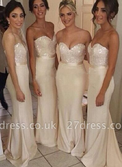Luxury Sequined sheath prom Dress UK satin newest style bridesmaid gowns