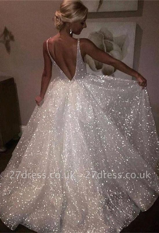 Sparkly Sequins Prom Dress UK | A-Line Evening Gowns On Sale