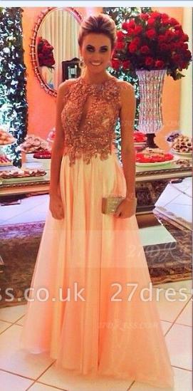 Evening Crystals Elegant Prom Dress UKes UK Halter Sleeveless Gowns A-line Floor-length Backless Charming