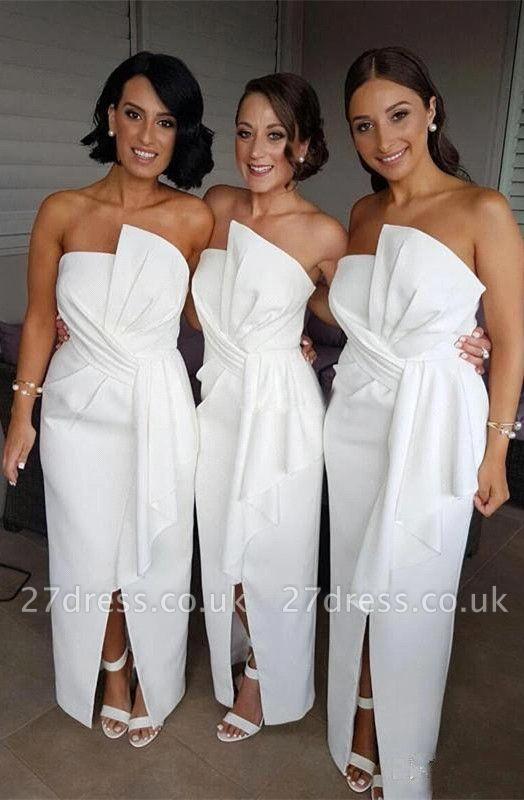 White Bridesmaid Dress UK | Designer Wedding Reception Dress UK