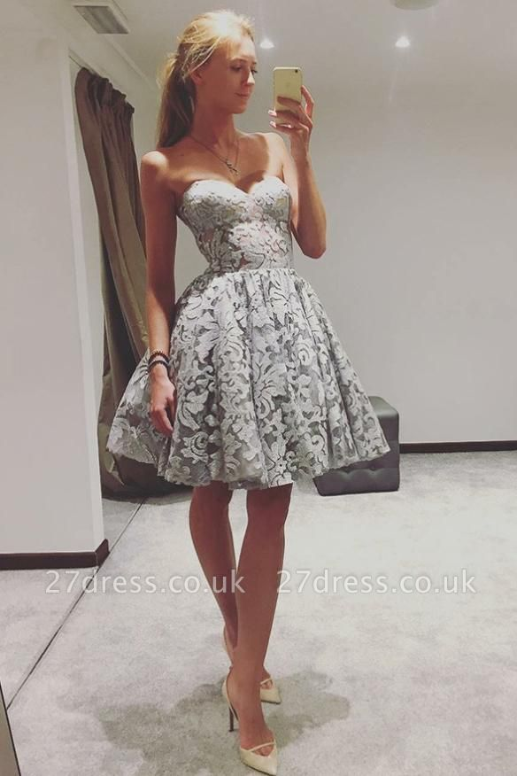 Sexy Sweetheart Homecoming Dress UKes UK | A-Line Sleeveless Cocktail Dress UKes UK