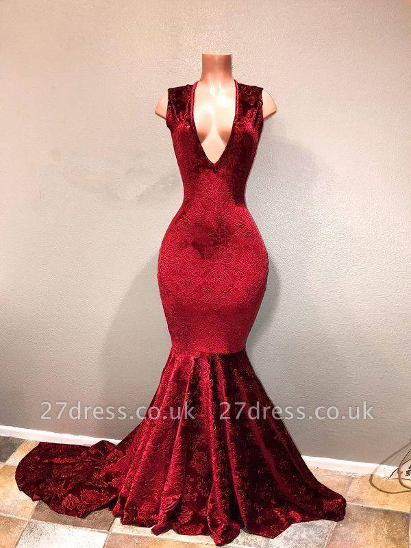 Lace prom Dress UK, V-Neck long evening Dress UK