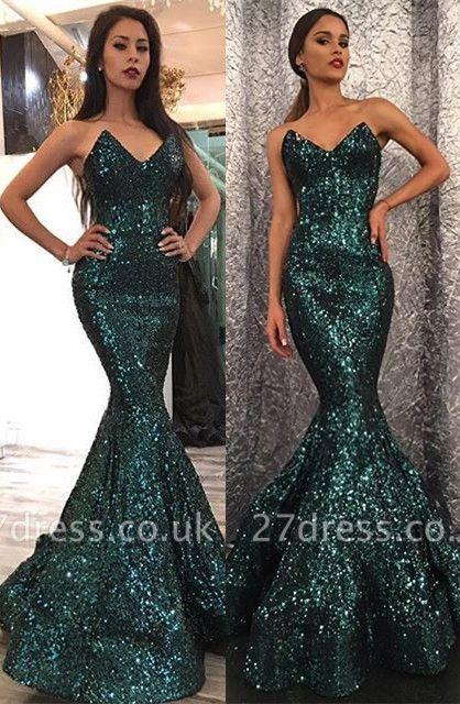 Elegant Sweetheart Mermaid Prom Dress UK With Sequins