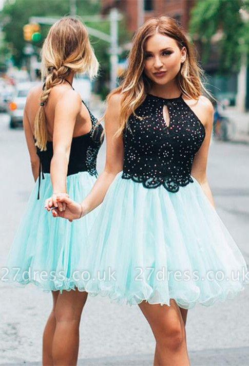 Lovely Halter Short Homecoming Dress UK   Tulle Party Dress UK