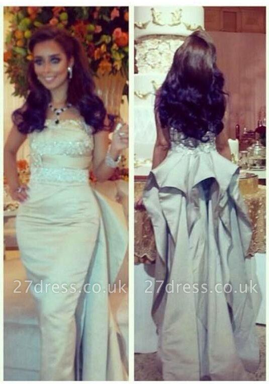 Gorgeous Sleeveless Mermaid Prom Dress UK With Ruffles Beadings