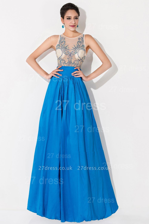 Modern Illusion A-line Evening Dress UK Beadings Sequins