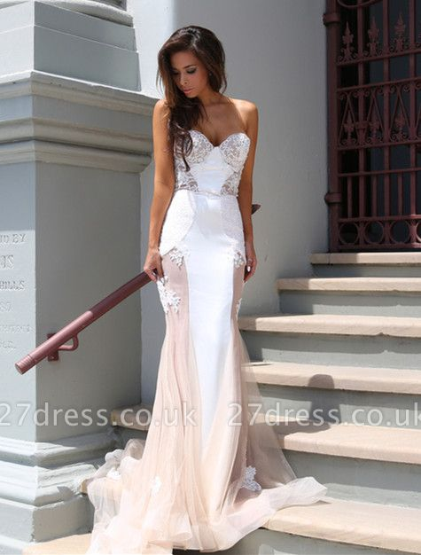 Sweetheart Lace Evening Dress UK with Mermaid Tulle Luxury