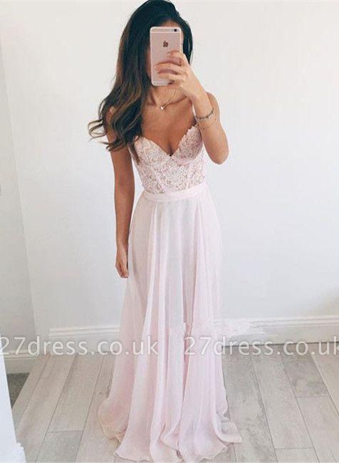 Sexy Sweetheart Lace Prom Dress UK Long Chiffon Party Gowns BA2665