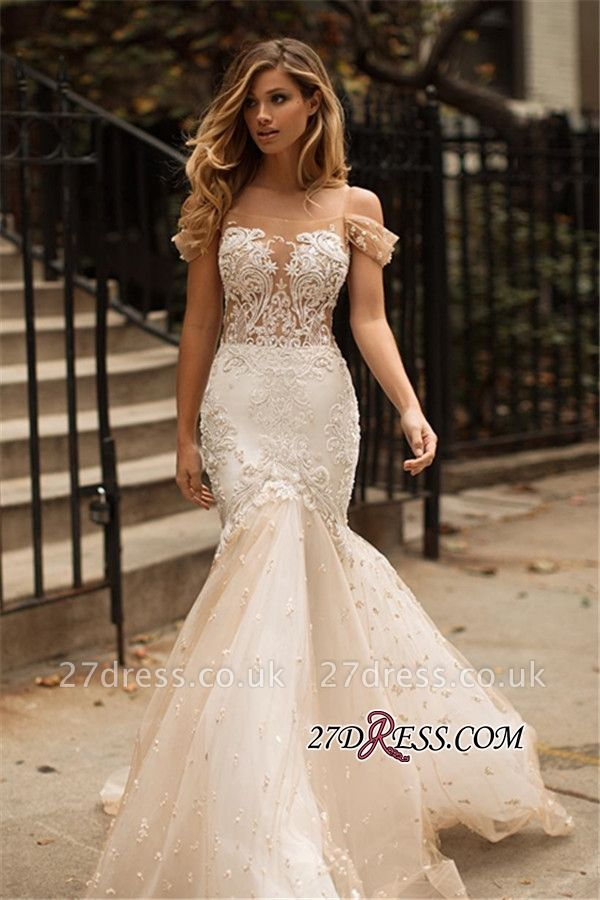 https://www.27dress.co.uk/tulle-newest-off-the-shoulder-appliques-mermaid-wedding-dress-g107452?cate_2=2?utm_source=blog&utm_medium=dare2wear&utm_campaign=post&source=dare2wear