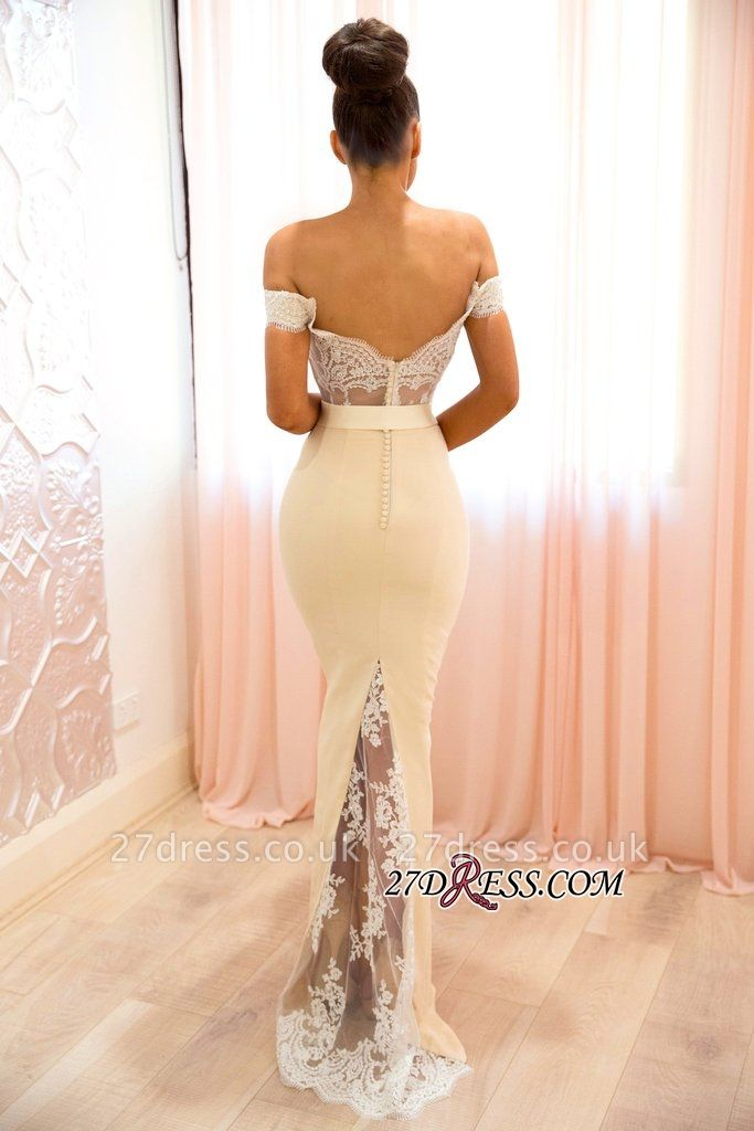 Off-the-shoulder mermaid lace evening Dress UK, prom Dress UKes UK BA8337