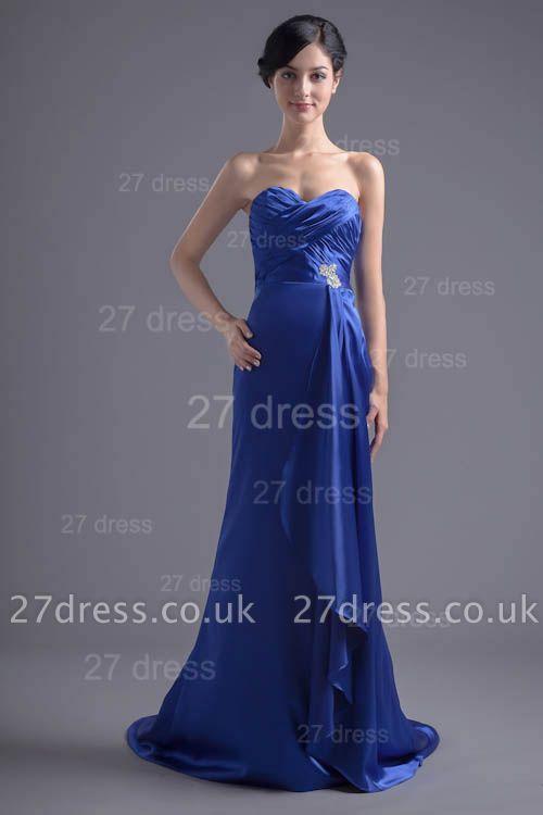 Modern Sweetheart Sleeveless Evening Dress UK Sweep Train Zipper