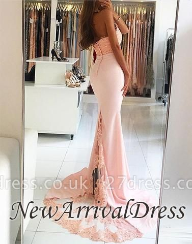 Open-Back Mermaid Backless Elegant Evening Dress UK lpl087