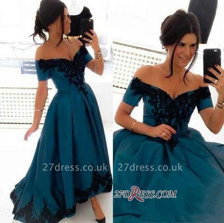 Appliques Sexy Off-the-Shoulder A-Line Hi-Lo Prom Dress UK