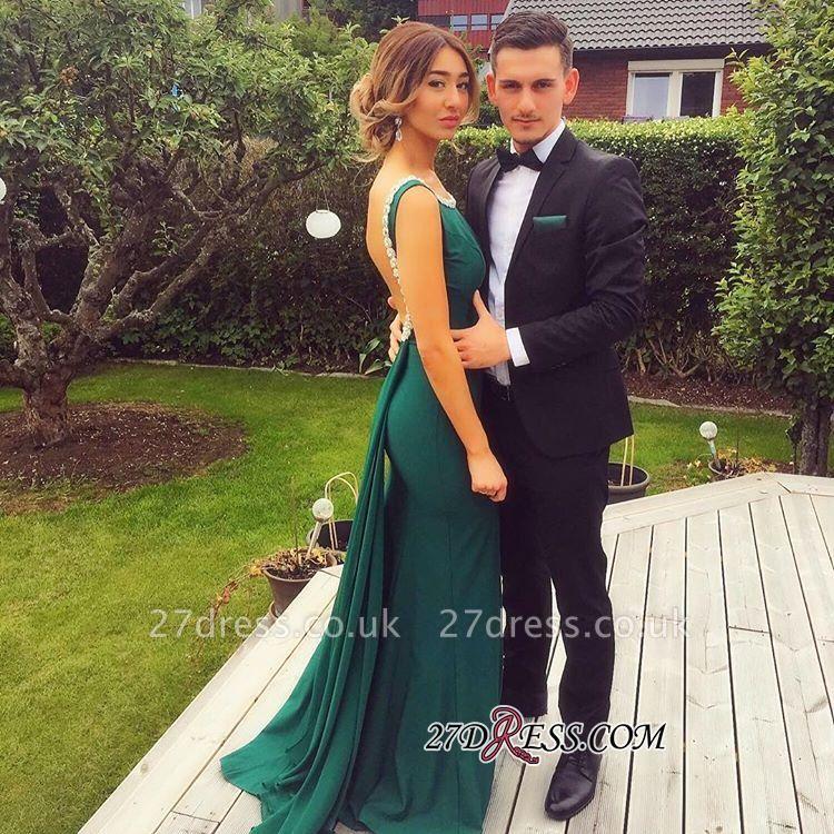 Scoop Prom Dress UKes UK Sheath Sexy Green Peals Backless Evening Dress UK