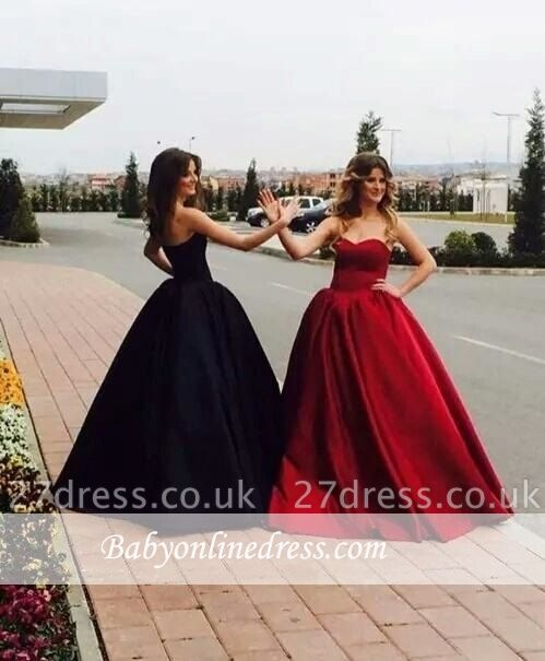 Gorgeous  Ball Gown Simple Prom Dress UKes UK Sweetheart Long On Sale BA9016