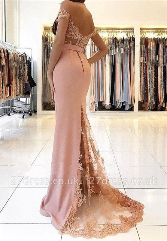 Off-the-Shoulder Mermaid Prom Dress UK | Evening Gowns On Sale BA9388