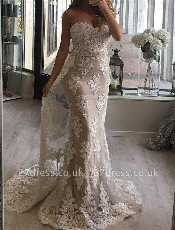Gorgeous Sweetheart Mermaid Lace Evening Dress UK Ruffles Long Party Dress UK BA7357