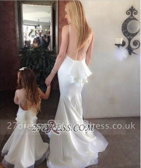 Elegant Sleeveless Backless Mermaid Prom Dress UK With Ruffles