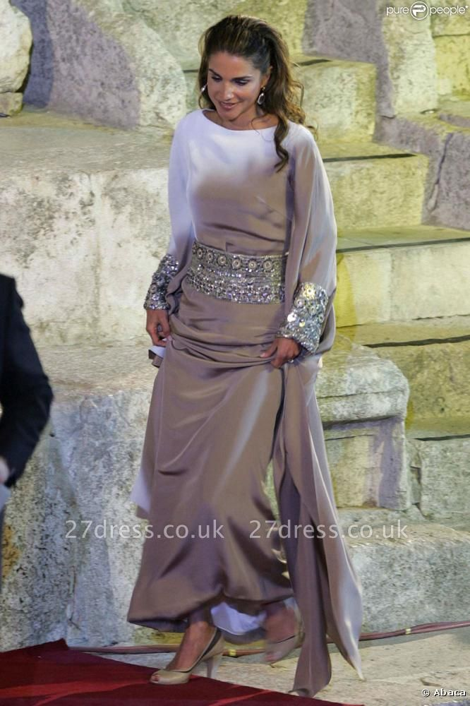 Sexy Bateau Long Sleeve Prom Dress UK With Sequins