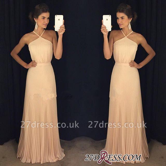 Floor-Length Long Halter Luxury Prom Dress UK AP0