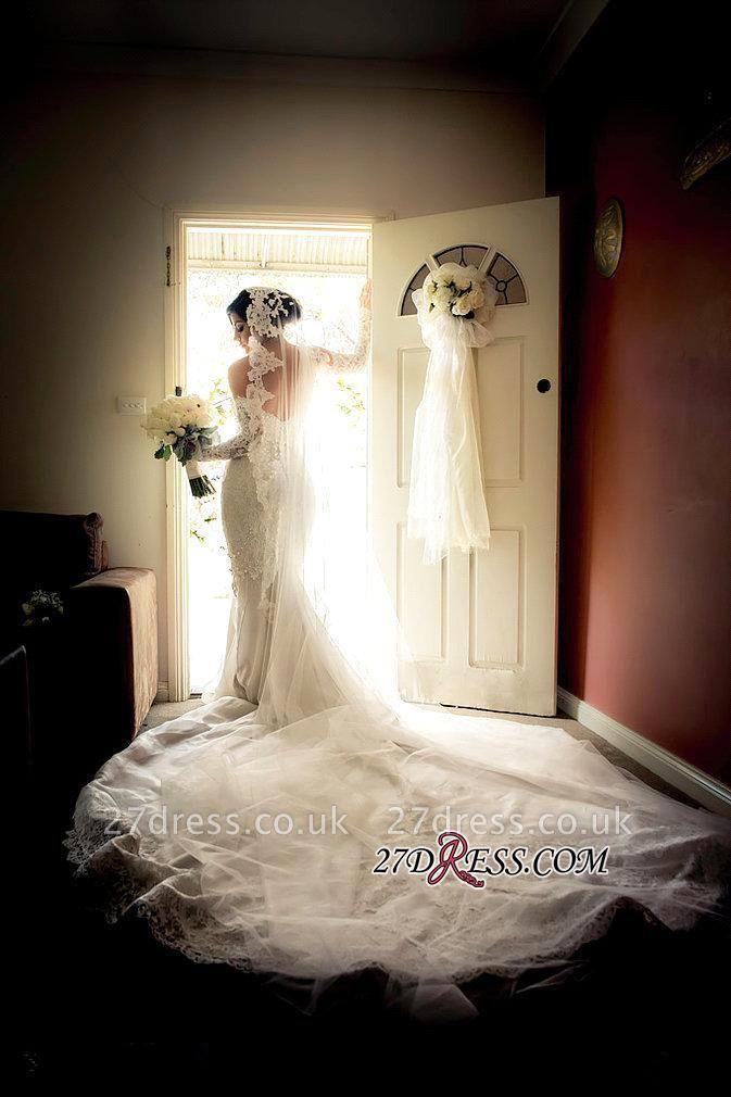 Lace Zipper Pearls Gorgeous Sweetheart Sexy Mermaid Wedding Dress