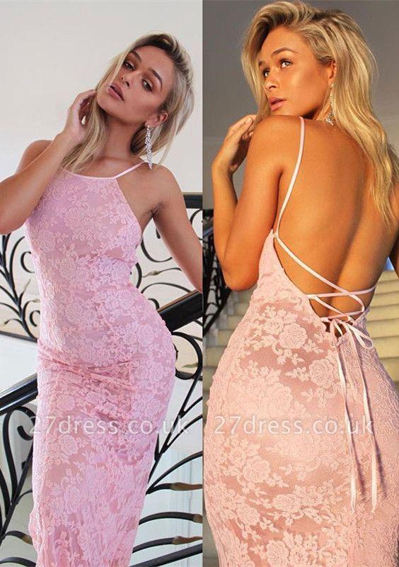 Pink Mermaid Evening Dress UK | Lace Prom Dress UK